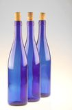 Botellas azules Imagen de archivo libre de regalías