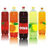 Botellas carbónicas de la bebida Fotografía de archivo