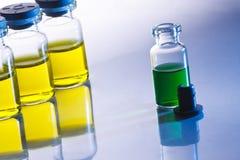 Botellas científicas de la muestra Fotos de archivo libres de regalías