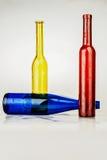 botellas coloreadas Foto de archivo libre de regalías