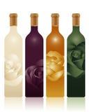 Botellas coloridas Imagen de archivo libre de regalías
