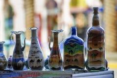 Botellas coloridas Imagen de archivo