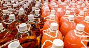 Botellas coloridas Foto de archivo libre de regalías