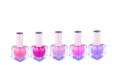 Botellas coloridas del esmalte de uñas Imagen de archivo