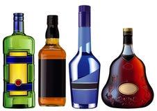 Botellas coloridas realistas del alcohol libre illustration