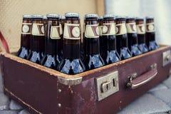 Botellas con la cerveza Foto de archivo libre de regalías