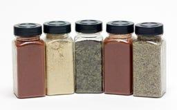 Botellas con las especias Fotos de archivo libres de regalías