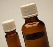Botellas con petróleo aromático Foto de archivo libre de regalías