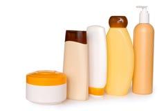 Botellas cosméticas Fotos de archivo