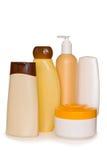 Botellas cosméticas Imagenes de archivo