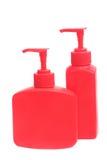Botellas cosméticas plásticas. Imagen de archivo libre de regalías