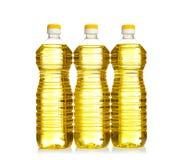 Botellas de aceite de cocina, aisladas imagen de archivo libre de regalías