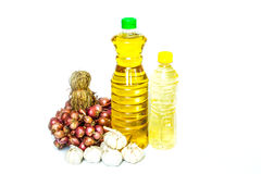 Botellas de aceite de cocina Fotos de archivo