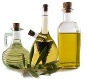 Botellas de aceite de oliva/de vinagre Imagen de archivo libre de regalías