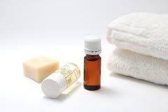 Botellas de aceite del aroma Fotografía de archivo libre de regalías