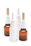 Botellas de aerosol nasal Imagen de archivo libre de regalías