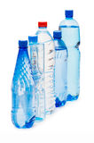 Botellas de agua aisladas Imágenes de archivo libres de regalías