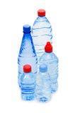 Botellas de agua aisladas Fotografía de archivo libre de regalías