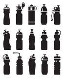 Botellas de agua fijadas Imágenes de archivo libres de regalías