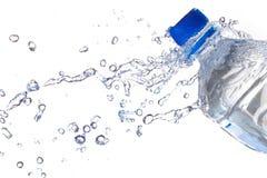 Botellas de agua plásticas Imágenes de archivo libres de regalías
