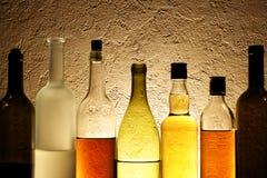 Botellas de alcohol imágenes de archivo libres de regalías