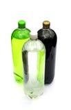 Botellas de bebida efervescente Fotografía de archivo libre de regalías