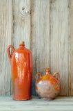 Botellas de cerámica Foto de archivo