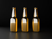 Botellas de cerveza Fotos de archivo