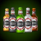 Botellas de cerveza stock de ilustración