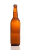 Botellas de cerveza aisladas en el fondo blanco. Fotos de archivo