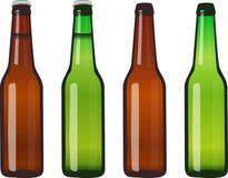 Botellas de cerveza - llenas y vacías libre illustration