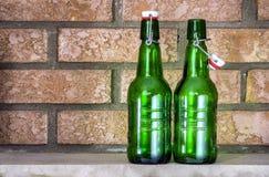Botellas de cerveza spruce vacía Imágenes de archivo libres de regalías