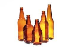 Botellas de cerveza vacías Fotografía de archivo