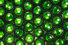 Botellas de cerveza verdes Imagen de archivo libre de regalías