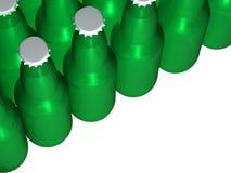 Botellas de cerveza verdes Ilustración del Vector