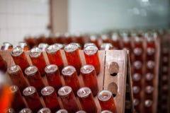 Botellas de Champán en el sótano Imágenes de archivo libres de regalías