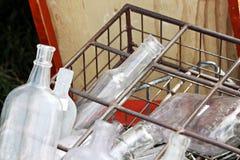 Botellas de cristal Imagen de archivo libre de regalías