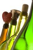 Botellas de cristal Fotografía de archivo libre de regalías