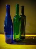 Botellas de cristal Foto de archivo