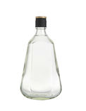 Botellas de cristal aisladas en el fondo blanco. Imágenes de archivo libres de regalías