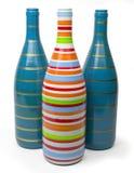 Botellas de cristal coloridas Fotografía de archivo