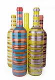 Botellas de cristal coloridas Foto de archivo