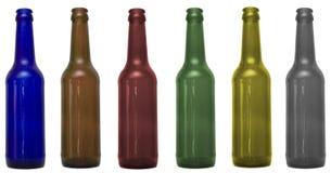 Botellas de cristal con la corrección del recortes Fotografía de archivo libre de regalías