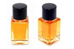 Botellas de cristal de la muestra Imagen de archivo libre de regalías