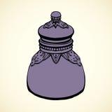 Botellas de cristal de veneno Gráfico del vector Imagenes de archivo