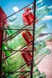 Botellas de cristal del coque del vintage Imagen de archivo libre de regalías
