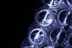 Botellas de cristal inferiores Fotografía de archivo