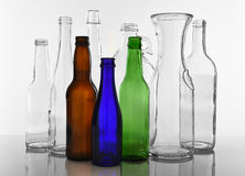 Botellas de cristal vacías Fotografía de archivo libre de regalías