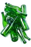 botellas de cristal verdes Fotografía de archivo libre de regalías