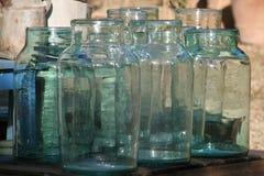 Botellas de cristal viejas Foto de archivo libre de regalías